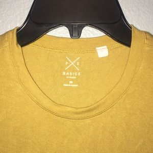 PacSun Tops - PacSun Basic Yellow Crop Tee